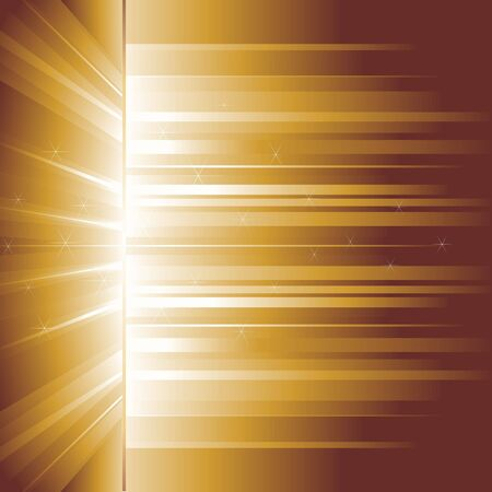 Golden glow. Golden rays. Vector background. Stock Vector - 10780484