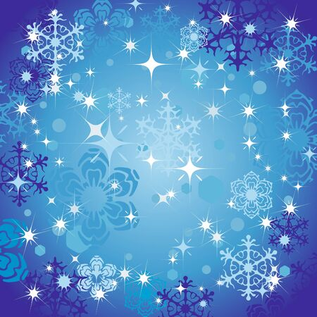 Abstract background with snowflakes. Holiday. Vector background. Illustration