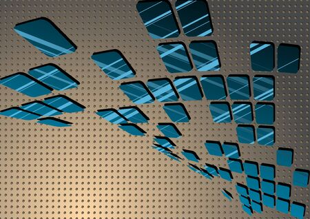 Blue abstract tile. An abstract background.