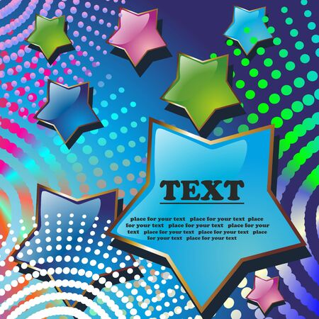 Stars abstract. A vector background with a place for your text.