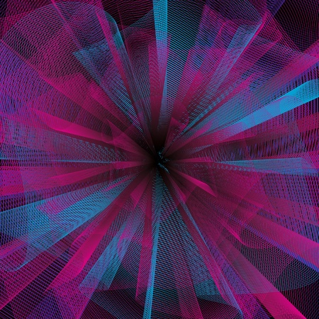 Abstract black background with a color grid. A vector.