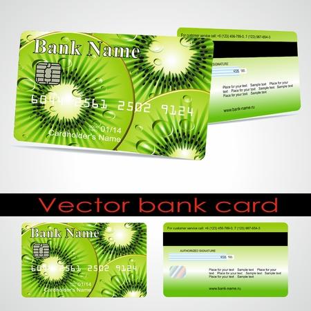 Bank card customer. Vector. Stock Vector - 10952204