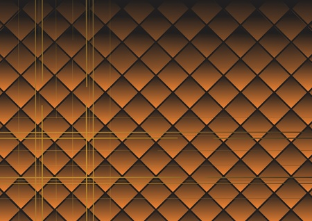 Rhombuses brown. A vector background.