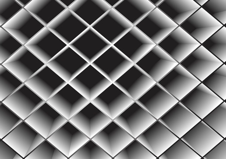 Rhombuses the gray extended. A vector background.