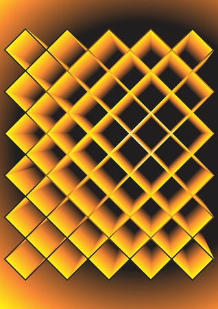 Rhombuses the yellow extended. A vector background. Illustration