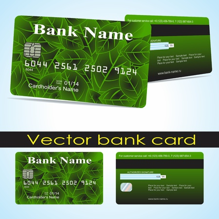 Bank card customer. Vector.