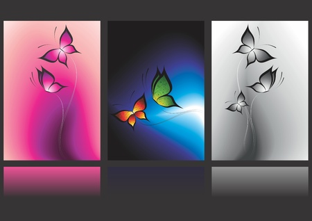 banners with butterflies