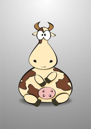 nostrils: Vector illustration of Cartoon Cow Illustration