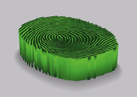 forensics: Green Fingerprint. Design background. Vector illustration. Illustration
