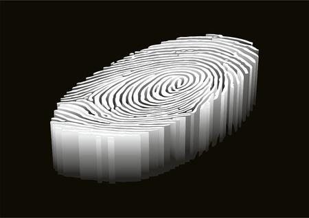Fingerprint. Design background. Vector illustration.