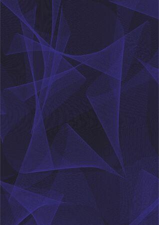 black blue: Abstract black and blue background. Design development. Vector illustration.