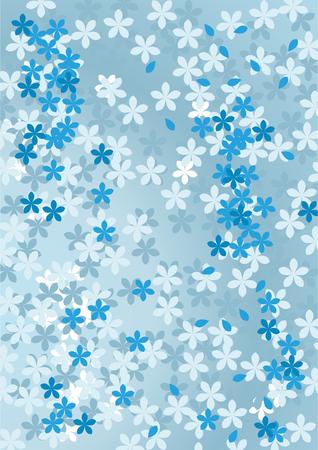 Abstract floral blue background. Vector illustration. Illustration