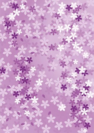 Abstract floral purple background. Vector illustration.