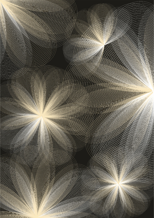 abstractions: Abstract floral background. Vector illustration.