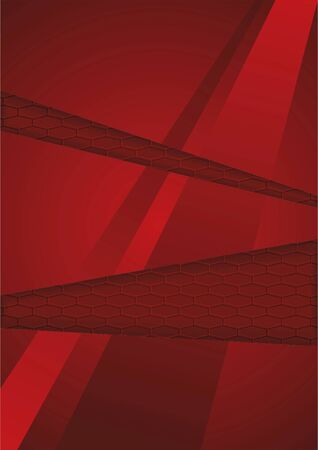 Red abstract background. Vector.
