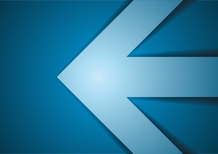 Blue Arrow. Vector abstract background.