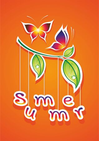 Summer vector illustration. Abstract background.