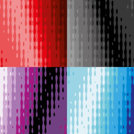 paint drop: Abstract background with bright texture. Four versions of the layout. Illustration