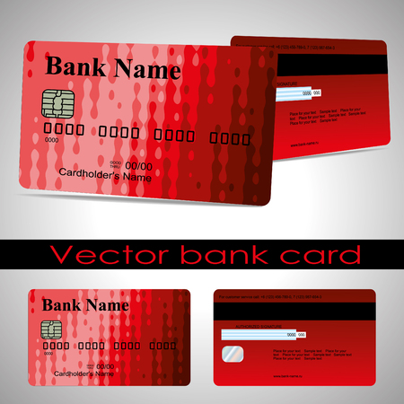 Bank card customer. The design for a credit card layout.