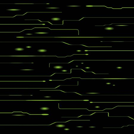Chip. Abstract vector black background with electrodes.