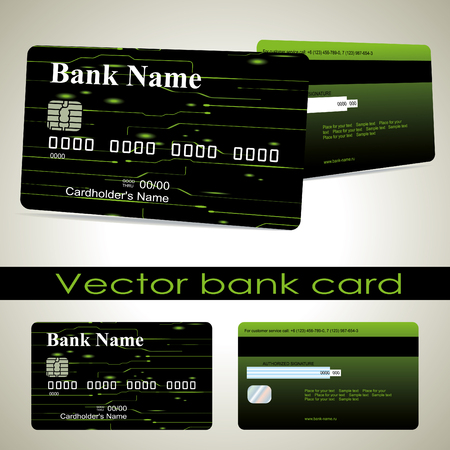 wiring: Bank card customer. Vector. The design for a credit card layout.