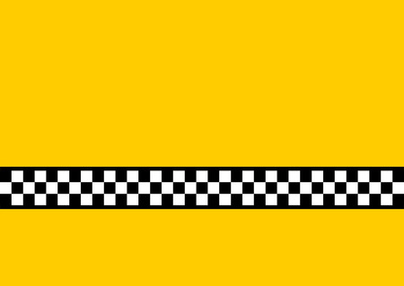 Simple design inspired by the New York Yellow Cab. Loads of copyspace! Vector