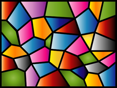This stained glass design was inspired by the texture of the glass panel in my kitchen!