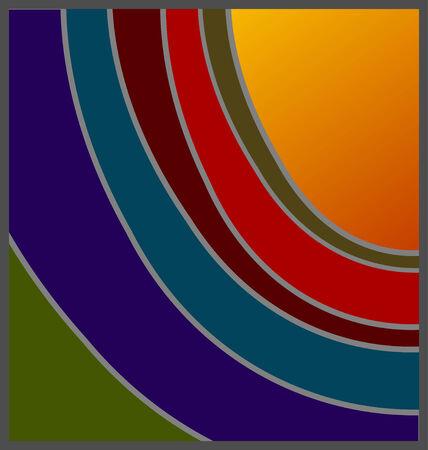 unconventional: Sfumature non convenzionale di progettazione tramonto, con aggiunta opzione per copyspace: D  Vettoriali