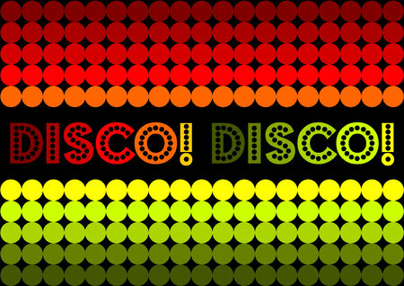70s disco inspired design. Boogie on down!!