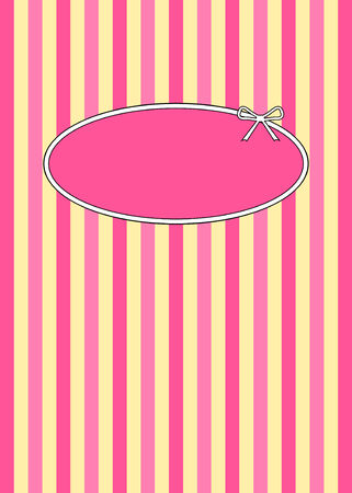 1950s retro candy stripes design with copyspace.