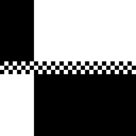 80s retro 2 Tone checkerboard design with plenty of copyspace. Illustration