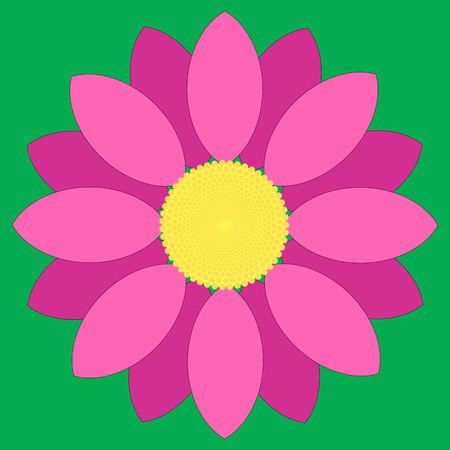 Progettazione semplice fiore rosa. Vettoriali