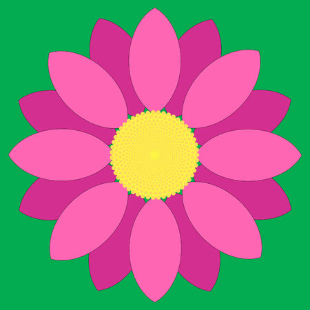 Simple pink flower design. Illustration