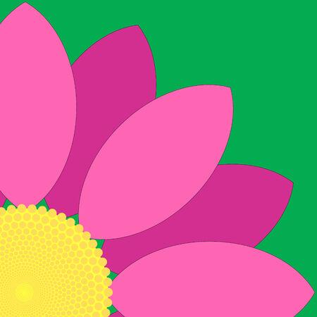 Simple pink flower design. Illustration