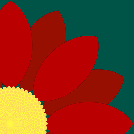Simple red flower design. Illustration