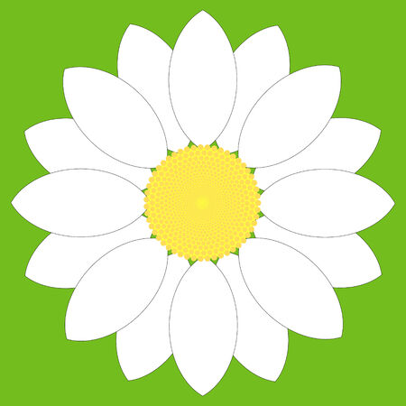 Simple white flower design. Illustration