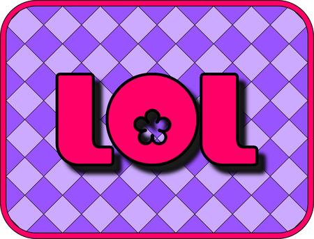 abbreviated: Un divertente icona con LOL (ride Out Loud). Vettoriali
