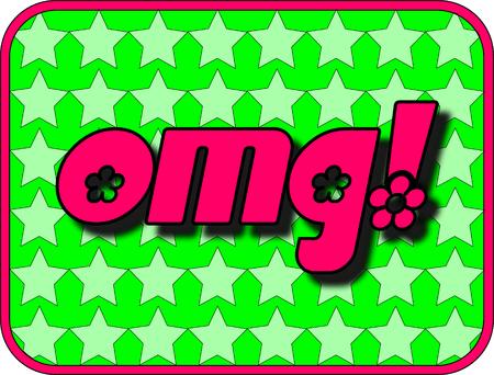 Un divertente icona con OMG! (Oh mio Dio!)