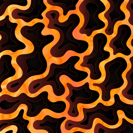 scorching: Abstract background design inspired volcanic lava flows. Illustration