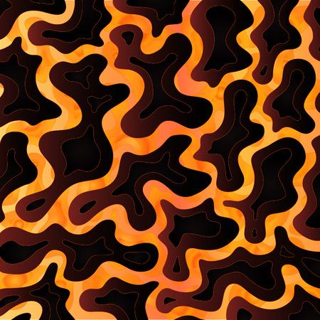 Sfondo astratto design ispirato colate di lava vulcanica.  Vettoriali
