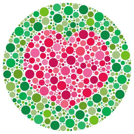 Forma a cuore fatto di cerchi, ispirati da test ciechi di colore. La versione vectoriale ha il cuore e i modelli di cerchio principale come un livello nascosto.