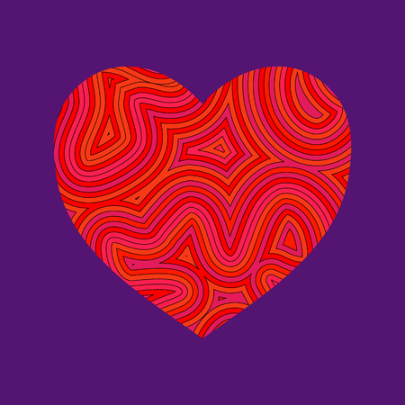 Psychedelic heart. Be my Groovy Valentine!!