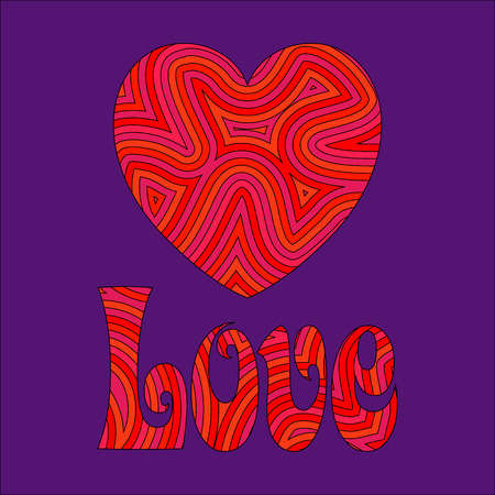 sixties: Psychedelic Liebe. Be my Groovy Valentine!! Illustration