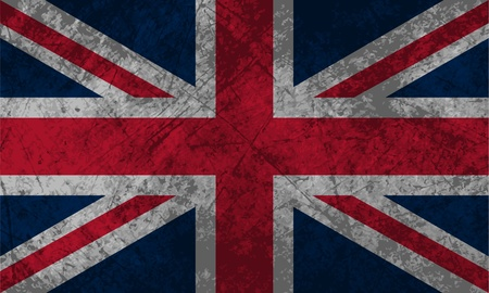 British Flag with a grunge texture effect  Vector