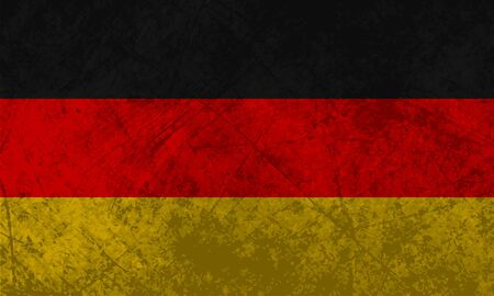German flag with a grunge texture effect  Stock Vector - 13629684