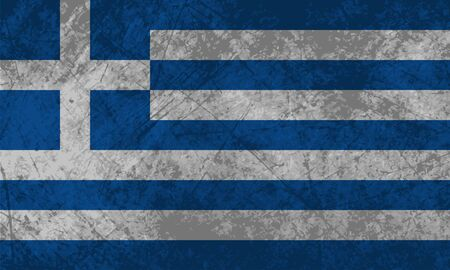 Greek flag with a grunge texture effect