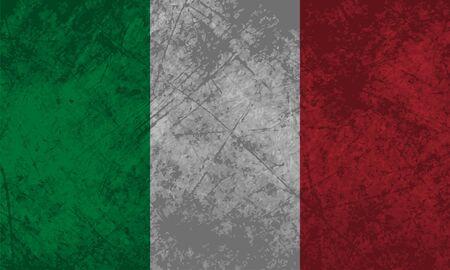 Bandiera italiana, con un effetto texture grunge