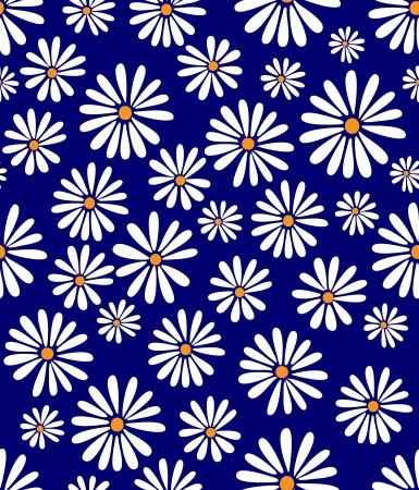 도리스 데이에 대한 찬사에 60 년대 복고풍 꽃 디자인 원활한 타일!
