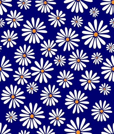 A seamless tile with a 60s retro flower design in tribute to Doris Day! Vector