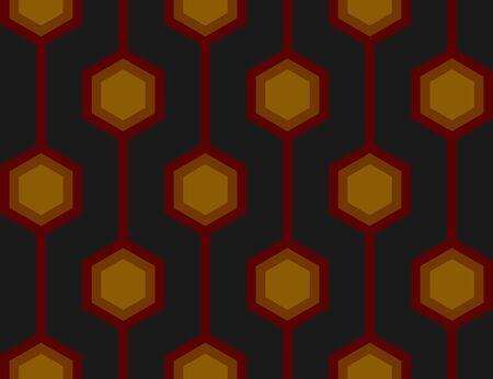 Senza soluzione di piastrelle con un modello retr� ripetizione esagonale in rosso.